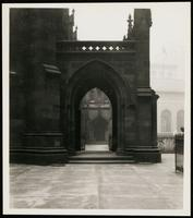 New York City: entryway, Trinity Church, Broadway and Wall Street, undated.