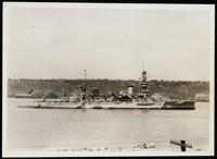 New York City: U.S. warship on the Hudson River, undated.