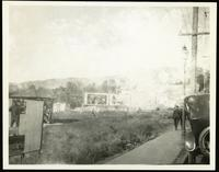 New York City: roadside billboards [Brooklyn?], undated