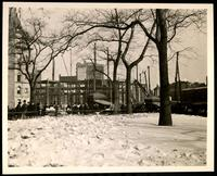 New York City: City Hall Park in snow, undated.