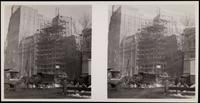 New York City: New York Produce Exchange Bank under construction, 10-12 Broadway, undated. Stereograph.