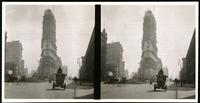 New York City: New York Times Building under construction, 1903 or 1904. Stereograph.