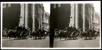 New York City: St. Nicholas' Collegiate Church, 48th Street and Fifth Avenue, with horse-drawn carriages, undated. Stereograph.