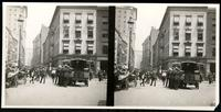 New York City: Broad Street looking east on Beaver Street, undated. Stereograph.