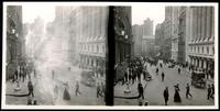 New York City: Broad Street at Exchange Place looking south, undated. Stereograph.