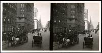 New York City: Fifth Avenue looking north from 32nd Street, undated. Stereograph.