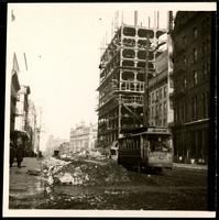 New York City: Seventh Avenue and 42nd Street, showing the New York Times Building under construction, 1903-1904. Stereograph.