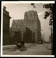 New York City: 34th Street looking west toward the Waldorf Astoria on Fifth Avenue, undated.