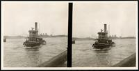 New York City: tugboat 'Komuk,' undated. Stereograph.
