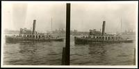 New York City: tugboat 'Victoria,' undated. Stereograph.
