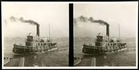 New York City: tugboat 'Thomas Flannery,' undated. Stereograph.
