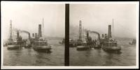 New York City: tugboats 'Victoria Rondout' and 'John L. Garlick,' undated. Stereograph.
