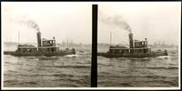 New York City: tugboat 'John Lee,' undated. Stereograph.