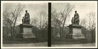 New York City: statue of William H. Seward, southwest corner of Madison Square Park, undated. Stereograph.
