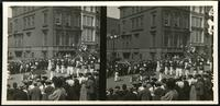 New York City: parade on Fifth Avenue in the upper 40s, undated. Stereograph.