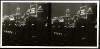 New York City: night view of Coney Island illuminations, undated. Andrew Mack's Fish Pond, Dreamland. Stereograph.