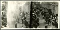 New York City: high angle Coney Island amusement park crowds, undated. Stereograph.