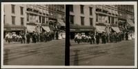 New York City: parade on 14th Street, ca. 1907. Stereograph.
