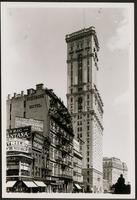 New York City: New York Times Building, Broadway and Seventh Avenue  at 42nd Street, 1907.