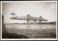 New York City: Blackwell's Island Bridge, under construction, 1907.