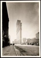 New York City: Broadway and 44th Street looking south, showing the Cadillac Hotel, the New York Times Building, Hammerstein's Theater and the Lyric Hotel, 1907.