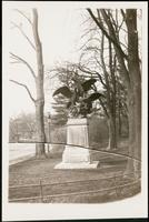 New York City: view of sculpture of eagle and prey by Fratin at the north end of the Mall, Central Park, 1908.