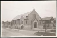 New York City: unidentified church in Queens, undated.