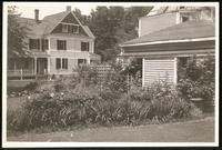 New York City: detail of unidentified house's garden, undated. Queens.
