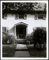 New York City: front walk and entryway detail on unidentified house, undated. Queens.