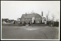 New York City: unidentified large corner house on wide neighborhood road, undated. Queens.