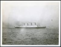 Unidentified ocean liner, undated.