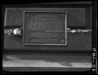 New York City: American Merchant Marine memorial tablet, undated. Slightly blurry.
