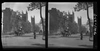 New York City: Fifth Avenue looking north from 9th Street toward the Church of the Ascension, undated. Stereograph.