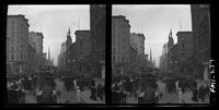 New York City: Fifth Avenue looking north from 42nd Street, showing Temple Emanu-El at 43rd Street, undated. Stereograph.