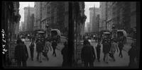 New York City: Broadway at Maiden Lane, looking south, undated. Stereograph.