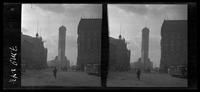 New York City: New York Times Building, Broadway at 44th Street looking south, undated. Stereograph.