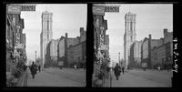 New York City: Seventh Avenue looking north from 40th Street, showing the New York Times Building, undated. Stereograph.