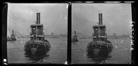New York City: tugboat 'Ellen M. Ronan,' undated. Stereograph.