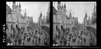 New York City: Coney Island, undated. Crowds in Dreamland in front of '20,000 Leagues Under the Sea.' Stereograph.