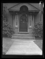 New York City: entryway detail on unidentified Queens house, undated.