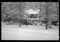 New York City: unidentified house in heavy snow, undated. Queens.