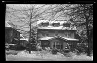 New York City: unidentified house in snow, undated. Queens.
