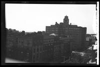 New York City: high angle view of several unidentified apartment buildings, undated. Queens.