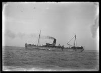 Unidentified tramp freighter, undated.