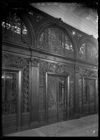 New York City: interior detail elevator doors, B. Altman & Co. department store, Fifth Avenue and 34th Street, undated.