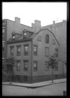 Brooklyn: [unidentified wooden corner townhouse], undated.