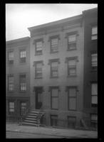 Brooklyn: [unidentified three-story brick row house], undated.