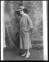 [Full-length studio portrait of unidentified woman, c. 1920-1930.]