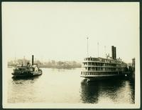 Albany: boats on the Hudson River (the Jacob H. Tremper and the Fort Grange), July 1926.