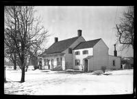 Gravesend / New Utrecht / New Lots / Canarsie: [unidentified Dutch-style house with additions, in winter, undated.]
